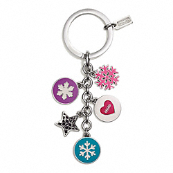 SNOWFLAKE MULTI MIX KEY RING COACH F62725