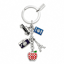 TRAVEL MIX KEY RING COACH F62733