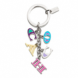 COACH COACH LETTERS MULTI MIX KEY RING - ONE COLOR - F62741