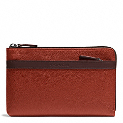 COACH CAMDEN LEATHER MULTI FUNCTION CASE - RUST/DARK BROWN - F62762