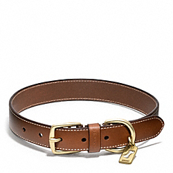 BLEECKER LEATHER STORY PATCH DOG COLLAR - FAWN - COACH F62777