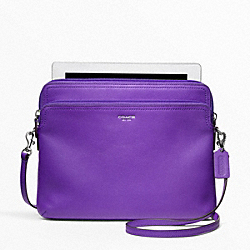 COACH LEATHER DOUBLE UNIVERSAL SLEEVE - SILVER/ULTRAVIOLET - F62796