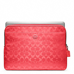 SIGNATURE NYLON LAPTOP SLEEVE COACH F62812