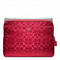 COACH SIGNATURE NYLON LAPTOP SLEEVE - ONE COLOR - F62812