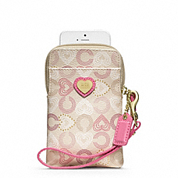 COACH WAVERLY HEARTS N/S UNIVERSAL CASE - ONE COLOR - F62821