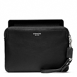 COACH LEATHER E-READER SLEEVE - ONE COLOR - F62826