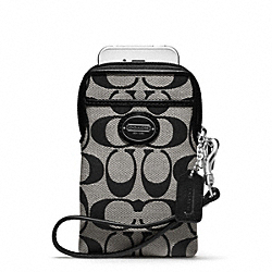 COACH SIGNATURE NORTH/SOUTH UNIVERSAL CASE - ONE COLOR - F62837