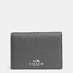 COACH DARCY LEATHER BIFOLD CARD CASE - SILVER/PEWTER - F62874