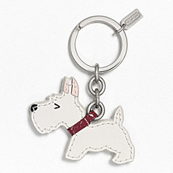 SCOTTIE DOG KEY RING COACH F62936
