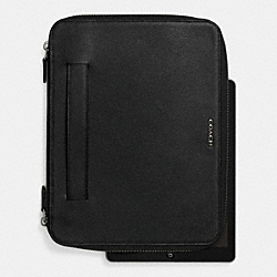 COACH ZIP IPAD CASE IN LEATHER - BLACK - F63015