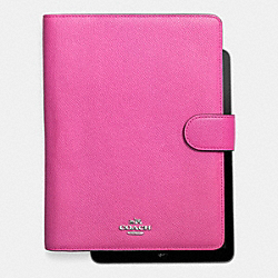 6X8 TAB JACKET IN CROSSGRAIN LEATHER - SILVER/FUCHSIA - COACH F63153