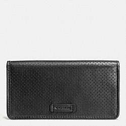 COACH VARICK MULTIFUNCTION PHONE CASE IN LEATHER - BLACK - F63234