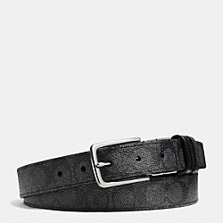 COACH DRESS WESTON CUT-TO-SIZE REVERSIBLE SIGNATURE C BELT - CHARCOAL - F63265