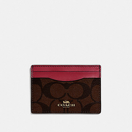 COACH CARD CASE IN SIGNATURE CANVAS - IMNM4 - f63279