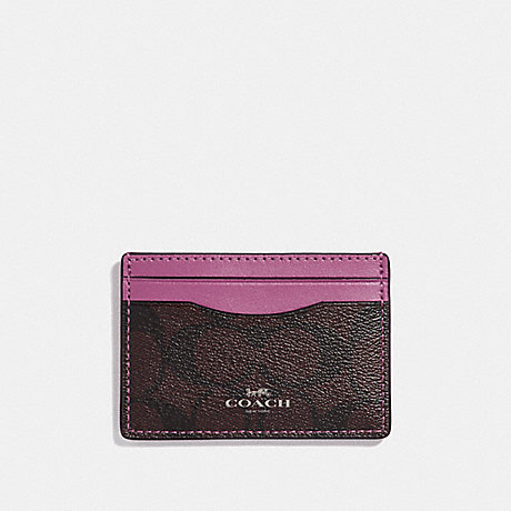 COACH CARD CASE - brown/Azalea/silver - f63279