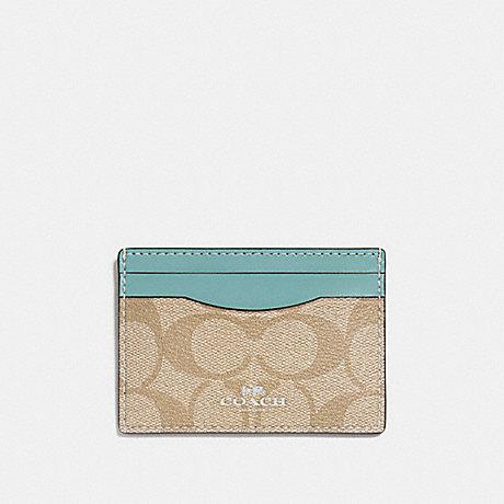 COACH CARD CASE IN SIGNATURE CANVAS - SVNKA - f63279