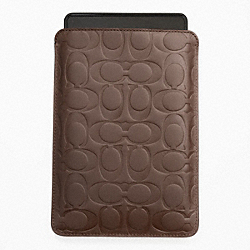 SIGNATURE EMBOSSED E-READER SLEEVE - TOBACCO - COACH F63316