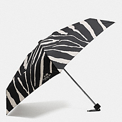 COACH ZEBRA PRINT MINI UMBRELLA - SILVER/BLACK MULTI - F63327