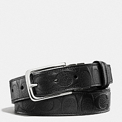 COACH DRESS WESTON CUT-TO-SIZE SIGNATURE C CROSSGRAIN LEATHER REVERSIBLE BELT - BLACK/BLACK - F63333