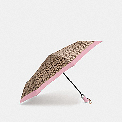 SIGNATURE UMBRELLA - SILVER/KHAKI/BLUSH - COACH F63364