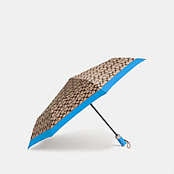 SIGNATURE UMBRELLA - BRIGHT BLUE/SILVER - COACH F63364