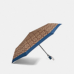 SIGNATURE UMBRELLA - ATLANTIC/SILVER - COACH F63364