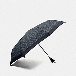 SIGNATURE UMBRELLA - DARK DENIM/SILVER - COACH F63364