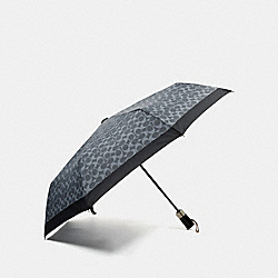 SIGNATURE UMBRELLA - SILVER/DENIM - COACH F63364
