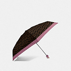 SIGNATURE MINI UMBRELLA - GD/MAHOGANY ROSE - COACH F63365