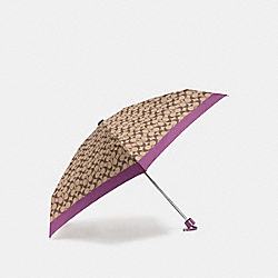 SIGNATURE MINI UMBRELLA - f63365 - SILVER/KHAKI