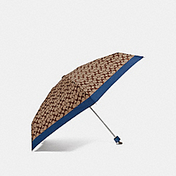 SIGNATURE MINI UMBRELLA - ATLANTIC/SILVER - COACH F63365