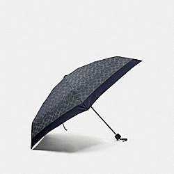 SIGNATURE MINI UMBRELLA - DARK DENIM/SILVER - COACH F63365