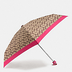 MINI UMBRELLA IN SIGNATURE - SILVER/KHAKI - COACH F63365