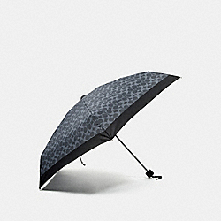 SIGNATURE MINI UMBRELLA - SILVER/DENIM - COACH F63365