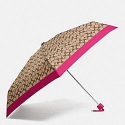 MINI UMBRELLA IN SIGNATURE - SILVER/KHAKI STRAWBERRY - COACH F63365