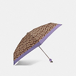 SIGNATURE MINI UMBRELLA - LIGHT PURPLE/SILVER - COACH F63365