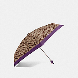 COACH SIGNATURE MINI UMBRELLA - VIOLET/SILVER - F63365