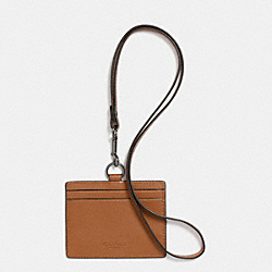 COACH ID LANYARD IN SPORT CALF LEATHER - SADDLE - F63629