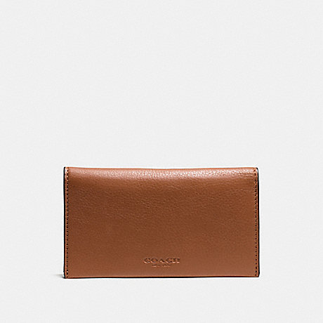 COACH UNIVERSAL PHONE CASE IN SPORT CALF LEATHER - SADDLE - f63646