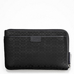 COACH HERITAGE SIGNATURE MULTI FUNCTION CASE - BLACK - F63657