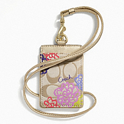 DAISY APPLIQUE LANYARD ID COACH F63676
