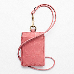 COACH SIGNATURE LANYARD ID - ONE COLOR - F63681