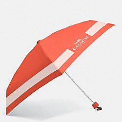 COACH HORSE AND CARRIAGE MINI UMBRELLA - SILVER/CARMINE/PEACH ROSE - F63690