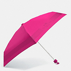 COACH HC LOCK UP MINI UMBRELLA - SILVER/CRANBERRY - F63690