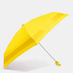 HC LOCK UP MINI UMBRELLA - SILVER/YELLOW - COACH F63690