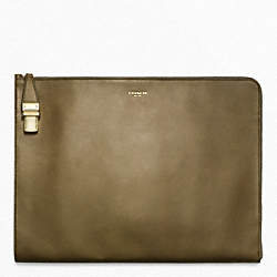 COACH CROSBY DRESS LEATHER TUCKLOCK PORTFOLIO - ONE COLOR - F63716