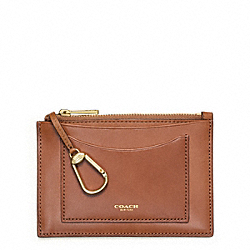 COACH F63718 - CROSBY LEATHER ZIP KEYCASE DOE