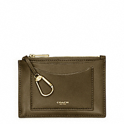 COACH CROSBY LEATHER ZIP KEYCASE - ONE COLOR - F63718