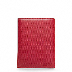 BLEECKER EMBOSSED TEXTURED LEATHER PASSPORT CASE COACH F63732