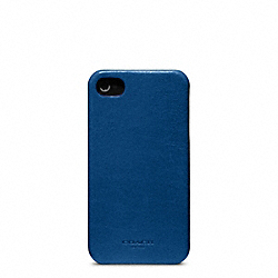 BLEECKER LEATHER MOLDED IPHONE 4 CASE - f63734 - VINTAGE ROYAL